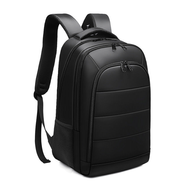 Black Striped Multifunction Backpack (15.6