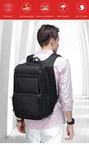 Black Anti-Thief Multifunctional Travel Backpack (17''laptop)