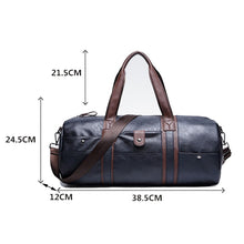 Load image into Gallery viewer, Leather Barrel Travel Bag