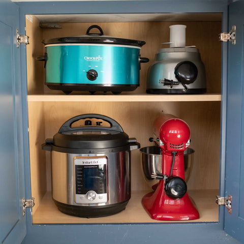 kitchen cabinet with appliances kitchen aid instant pot crock pot