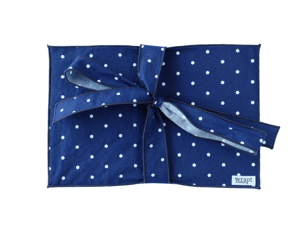 Navy Polka Greeting Card Wrap