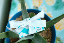 Load image into Gallery viewer, Turquoise Chevron Gift Card Wrap