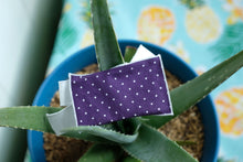Load image into Gallery viewer, Purple Dot Gift Card Wrap