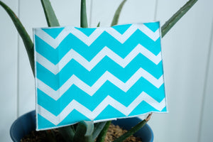 Turquoise Chevron Greeting Card Wrap