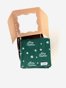 Merry Christmas Gift Wrap with Bakery Box (Small)