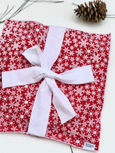 Load image into Gallery viewer, Red Snowflake Treat Wrap