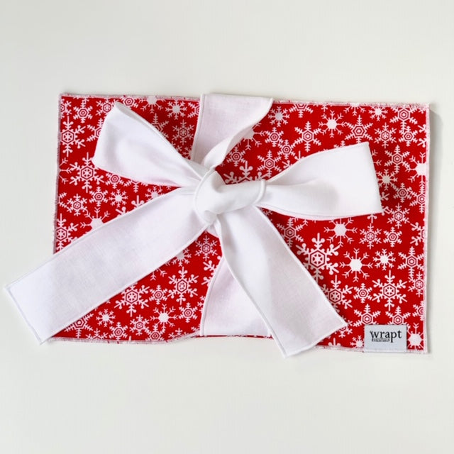 Red Snowflake Greeting Card Wrap