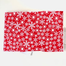 Load image into Gallery viewer, Red Snowflake Greeting Card Wrap