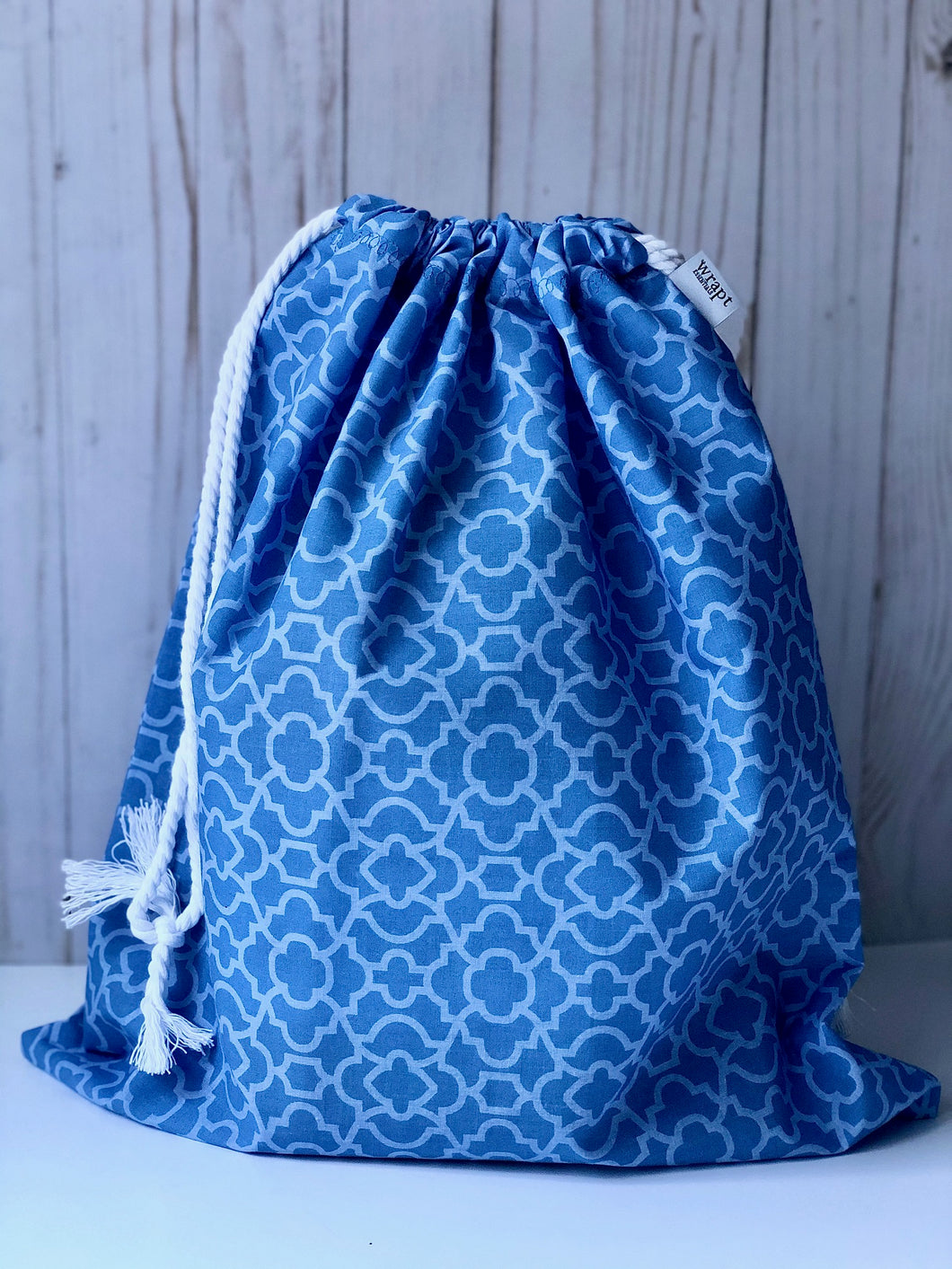 Light Blue Drawstring Gift Bag