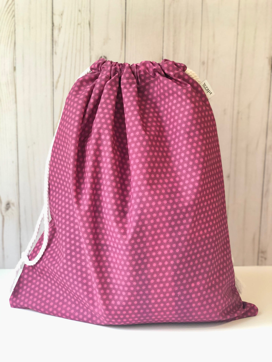 Pink Starburst Drawstring Gift Bag