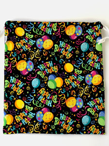 Happy Birthday Drawstring Gift Bag