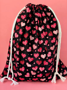 By mine Valentine Drawstring Gift Bag