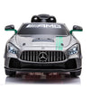 Ride On Car 12v Mercdes Benz GT4 Sliver Green Limted Editon- KidsOnWheelz - Kids On Wheelz