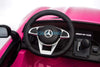 MERCEDES BENZ AMG GTR 12V KIDS RIDE ON 2 SEATER - PINK