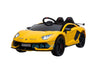 LAMBORGHINI AVENTADOR SVJ KIDS RIDE ON CAR 12V - YELLOW |SOLD OUT|