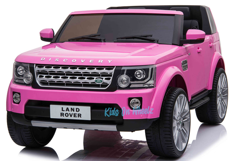 LAND ROVER DISCOVERY 12V KIDS RIDE ON 2 SEATER - PINK IN STOCK