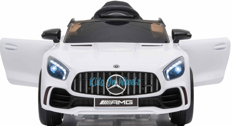 MERCEDES BENZ AMG GTR 12V KIDS RIDE ON 1 SEAT- WHITE | IN STOCK |