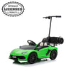 Lamborghini Aventador SVJ 12V Electric Ride-On Car for Kids with Parental Hoverboard Lime Green- Kids On Wheelz