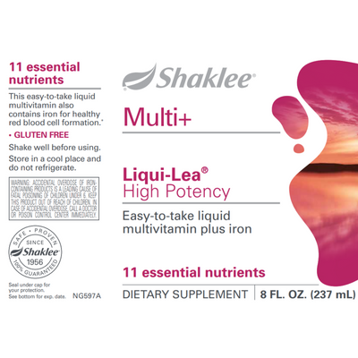 Shaklee Liqui-Lea Plus Iron - 237 ml - Multivitamina Liquida - Puro Estado Fisico