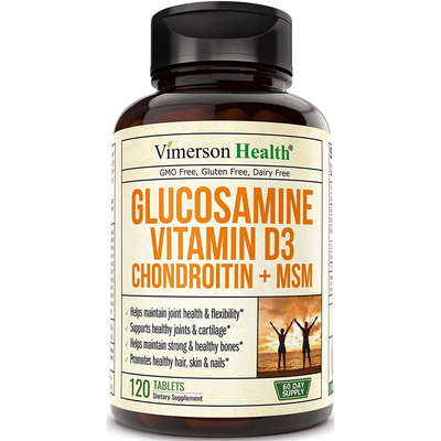 Vimerson Health Glucosamine Vitamin D3  Chondroitin and MSM - 120 Tabletas - Puro Estado Fisico