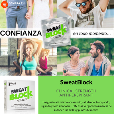 SweatBlock Clinical Strength Antiperspirant - Antitranspirante - Puro Estado Fisico