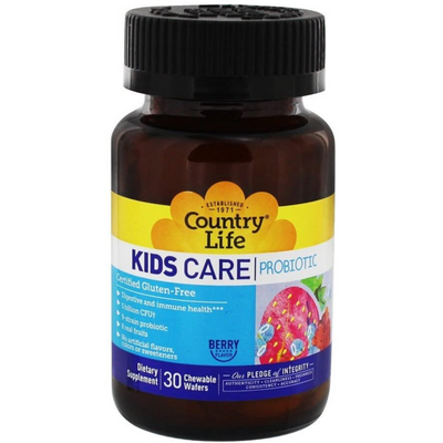 Country Life Kids Care Probiotic Digestive and Immune Health - Chewable Wafers - Puro Estado Fisico