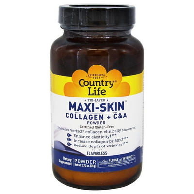 Country Life Maxi-Skin Collagen + C & A - 78 g - Puro Estado Fisico
