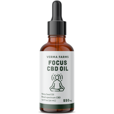 Verma Farms Focus CBD Oil - 30 ml - Puro Estado Fisico