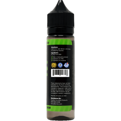 Hemp Bombs CBD Vape E-Liquid 1000 mg - 60 ml - Puro Estado Fisico