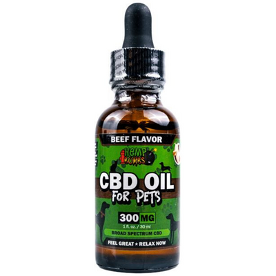 Hemp Bombs CBD Oil for Pets 300 mg - Carne - 30 ml - Puro Estado Fisico