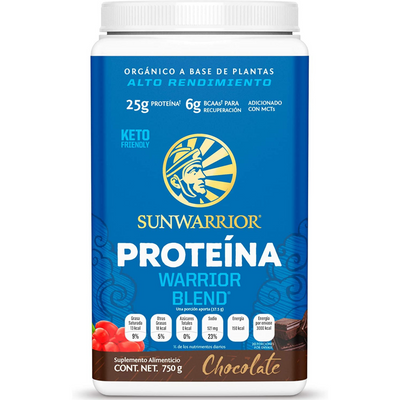 Sunwarrior Protein Warrior Blend - Chocolate - Polvo - Puro Estado Fisico