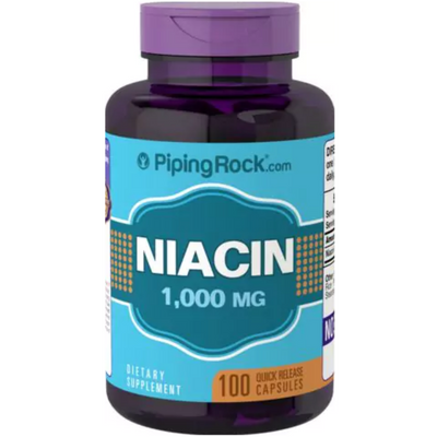 Piping Rock Niacin 1000mg - 100 Cápsulas - Puro Estado Fisico