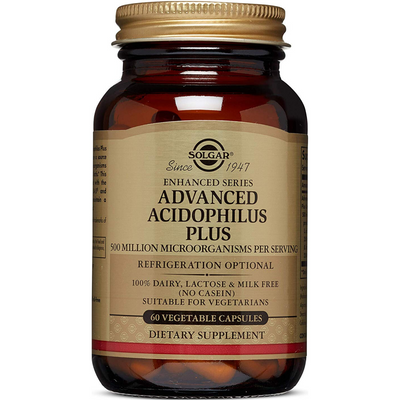 Solgar Advanced Acidophilus Plus - Cápsulas De Origen Vegetal - Puro Estado Fisico