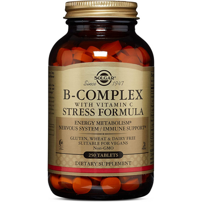 Solgar B-Complex with Vitamin C Stress Formula - Tablets - Puro Estado Fisico