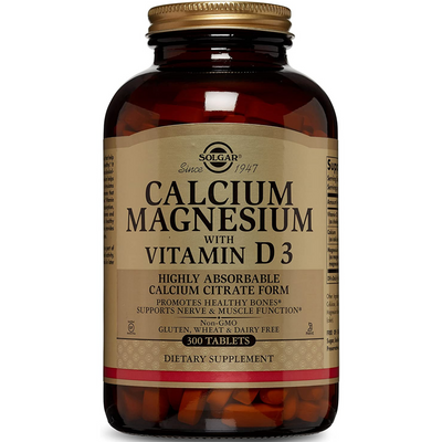 Solgar Calcium Magnesium with Vitamin D3 - 300 Tablets - Puro Estado Fisico