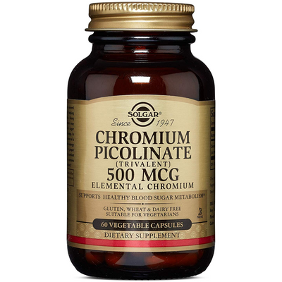 Solgar Chromium Picolinate 500 mcg - Vegetable Capsules - Puro Estado Fisico