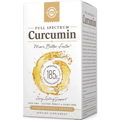 Solgar Full Spectrum Curcumin - Liquid Softgels - Puro Estado Fisico