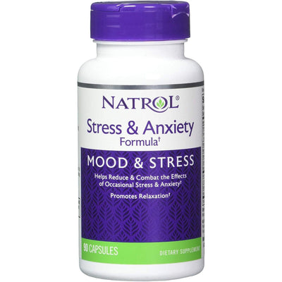 Natrol Stress and Anxiety Formula - 90 Cápsulas - Puro Estado Fisico