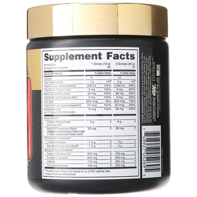Optimum Nutrition GOLD STANDARD Pre Workout - Ponche de Frutas - 300 g - Puro Estado Fisico