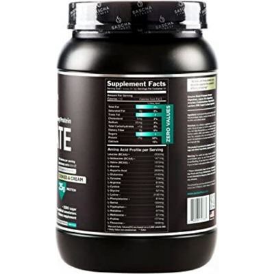 Sascha Fitness Hydrolyzed Whey Protein Isolate - 2 lb - Puro Estado Fisico