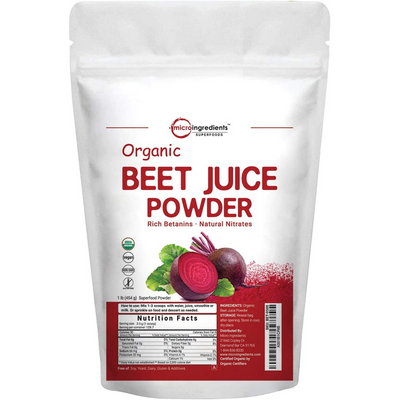 Micro Ingredients Organic Red Beet Juice Powder - 1 lb - Puro Estado Fisico