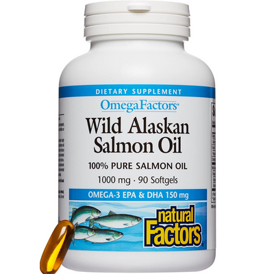 Natural Factors Wild Alaskan Salmon Oil - Softgels - Puro Estado Fisico