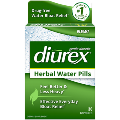 Diurex Herbal Water Pills - 30 Cápsulas - Puro Estado Fisico