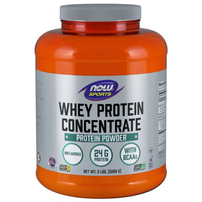 NOW Foods NOW Sports Whey Protein Concentrate Unflavored 5 lb