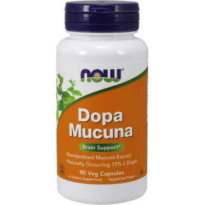 NOW Foods Dopa Mucuna Brain Support - 90 Cápsulas Vegetales - Puro Estado Fisico