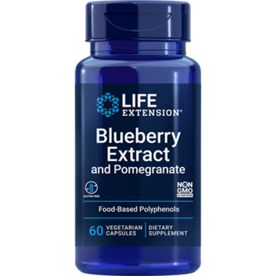 Life Extension Blueberry Extract with Pomegranate - 60 Cápsulas Vegetarianas - Puro Estado Fisico