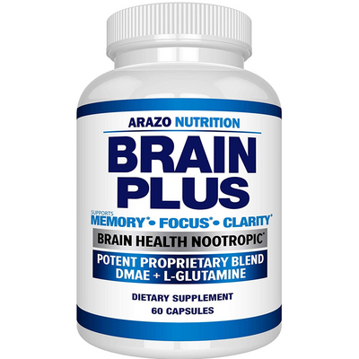 Arazo Nutrition Brain Plus - 60 Cápsulas - Puro Estado Fisico