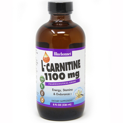 Bluebonnet Liquid L-Carnitine - 1100 mg - 236 ml - Puro Estado Fisico