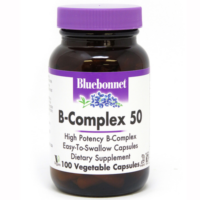 Bluebonnet B-Complex 50 - Vegetable Capsules - Puro Estado Fisico