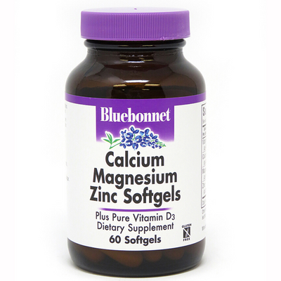 Bluebonnet Calcium Magnesium Zinc Plus Vitamin D3 - Softgels - Puro Estado Fisico